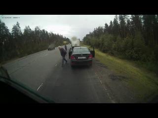 Публикуем видео смертельного ДТП на трассе СПб- Выборг.