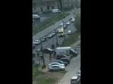 Сбили мотоциклиста на Варшавской улице, на перекрестке с Бассейной