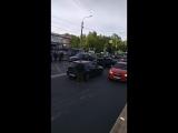 На проспекте Ветеранов у дома 69 произошла серьезная авария из 4 машин. Одна перевернулась.