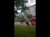 Пожар в доме 172к2 на Московском проспекте, Пожарные потушили. Жертв нет