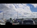 Авария на Пулковском шоссе, не доезжая до Метрики