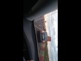 На Московском шоссе, после Славянки, Mercedes W220 на мурманских номерах по непонятным причинам въех...